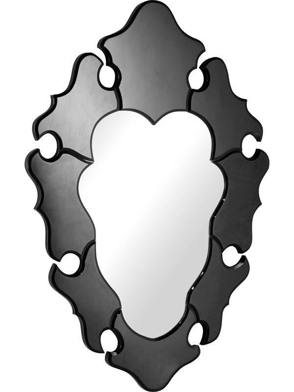 #31 -  Beautiful Stylish Glass Mirror with a Black Decorative Trim