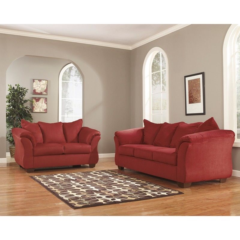 #46 - Signature Design by Ashley Darcy Living Room Set in Salsa Fabric