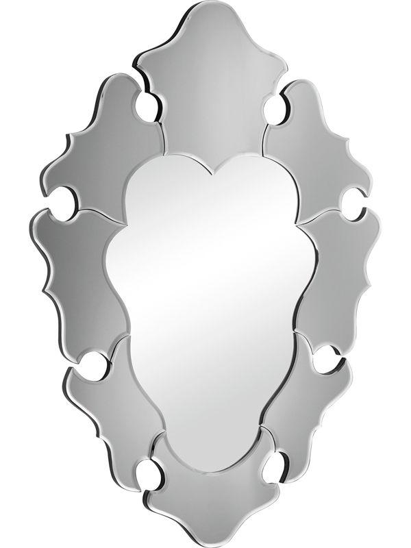 #32 -  Beautiful Stylish Glass Mirror with a Gray Decorative Trim