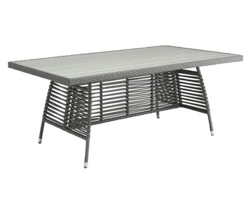 #221 - Modern Style Wide Rectangular Outdoor Dinning Table in Grey - Home Furniture