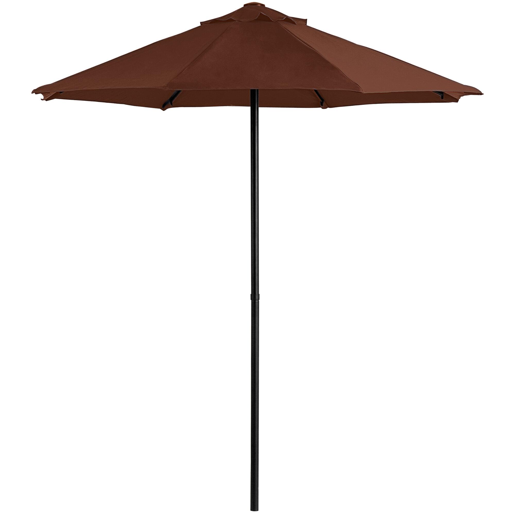 "#80 - 7 1/2 FT Round Terracotta Push Lift Umbrella with 1 1/2"" Steel Pole"