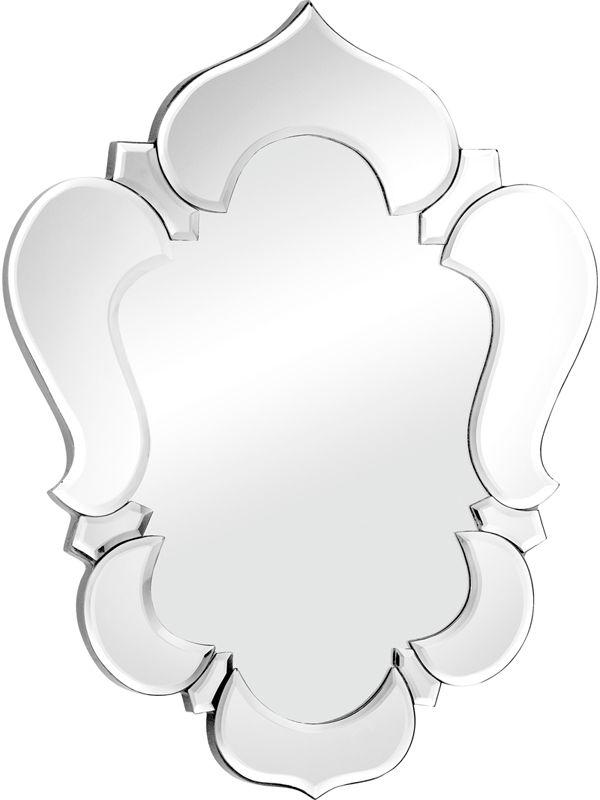 #34 - Modern Glass Mirror with a Clear Decorative Trim