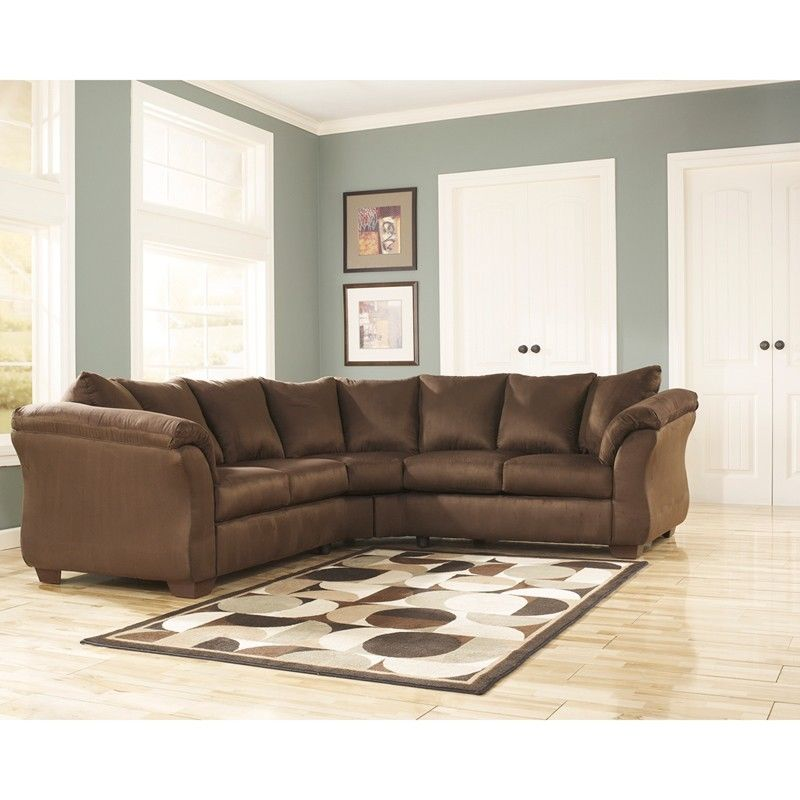 #47 - Signature Design by Ashley Darcy Sectional in Cafe Fabric