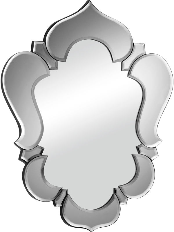 #35 - Modern Glass Mirror with a Gray Decorative Trim