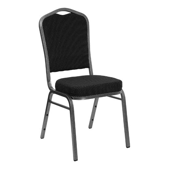 #4 - CROWN BACK BANQUET CHAIR WITH BLACK FABRIC