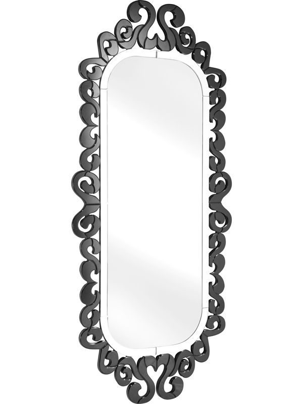 #36 - Royal like Glass Mirror with a Black Decorative Trim
