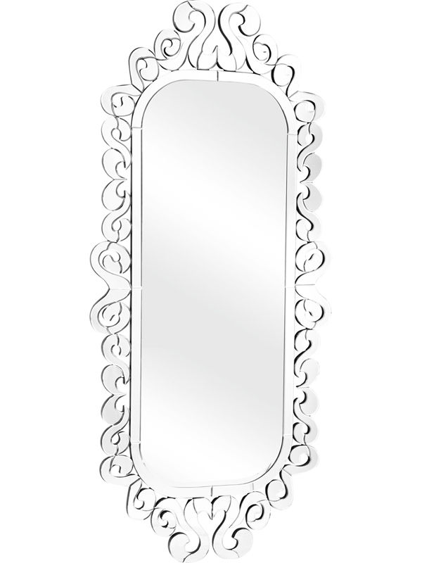 #37 - Royal like Glass Mirror with a Clear Decorative Trim