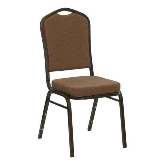#12 - CROWN BACK BANQUET CHAIR WITH COFFEE FABRIC