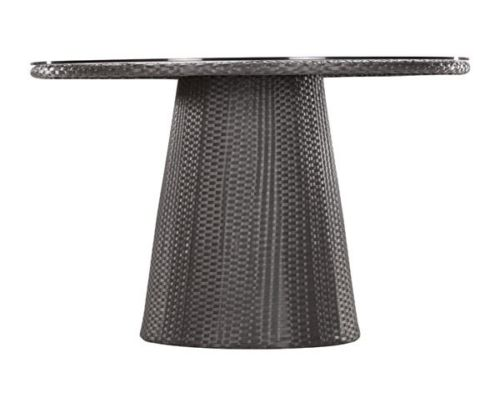 #234 - Modern Contemporary Wicker Like Dining Table in Espresso for Ind