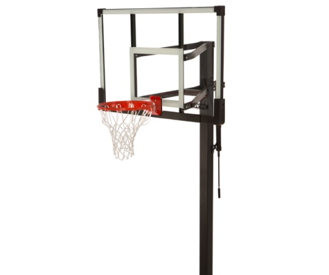 #4 - 54 IN. Tempered Glass Basketball Hoop w/ Bolt Down & Crank Adjust