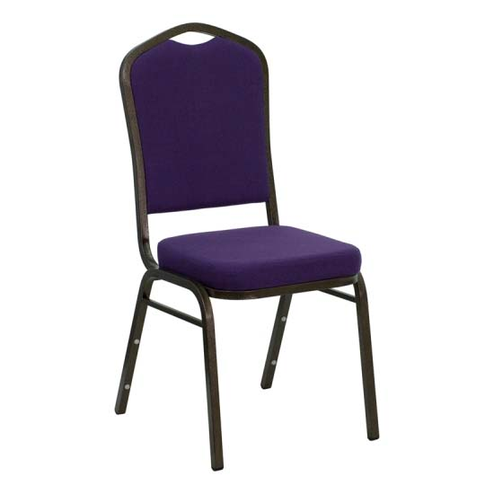 #23 - CROWN BACK BANQUET CHAIR WITH PURPLE FABRIC