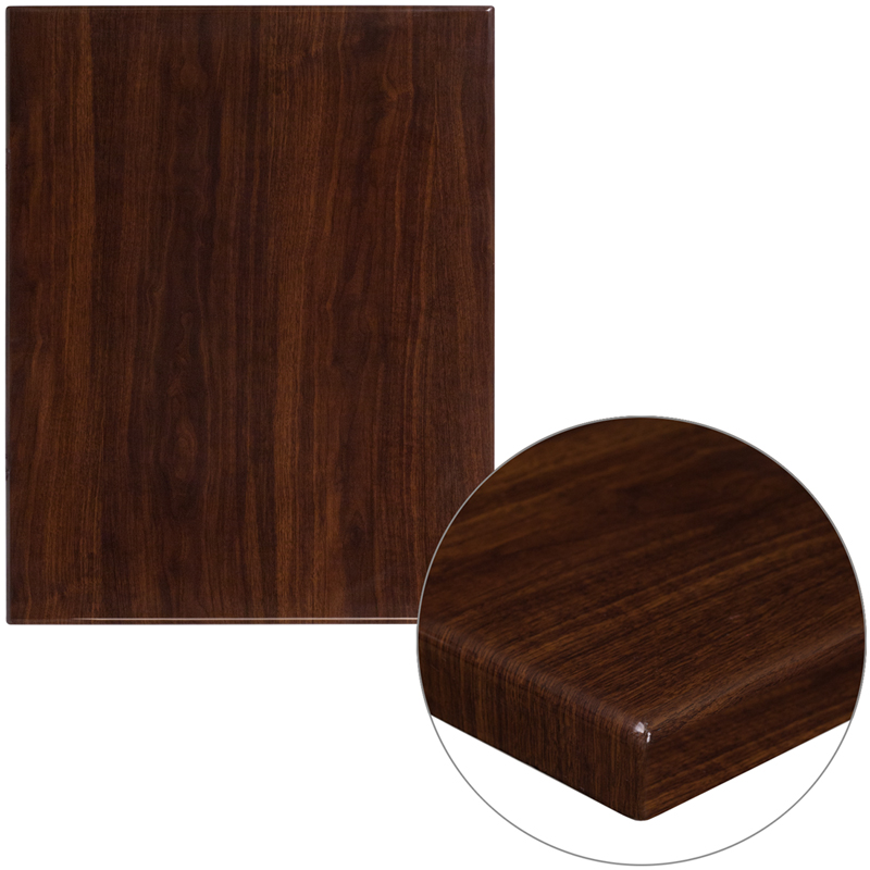#26 - 24'' SQUARE RESIN WALNUT TABLE TOP