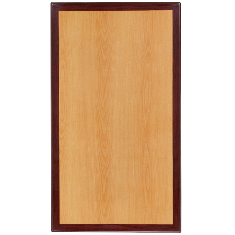 #8 - 24'' X 30'' RECTANGULAR TWO-TONE RESIN CHERRY AND MAHOGANY TABLE TOP