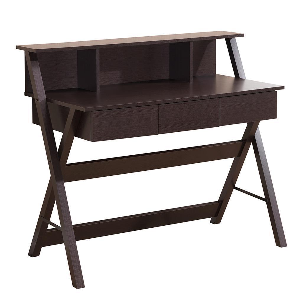 #103 - Modern Computer Desk Workstation with Shelf and Three Storage Drawers