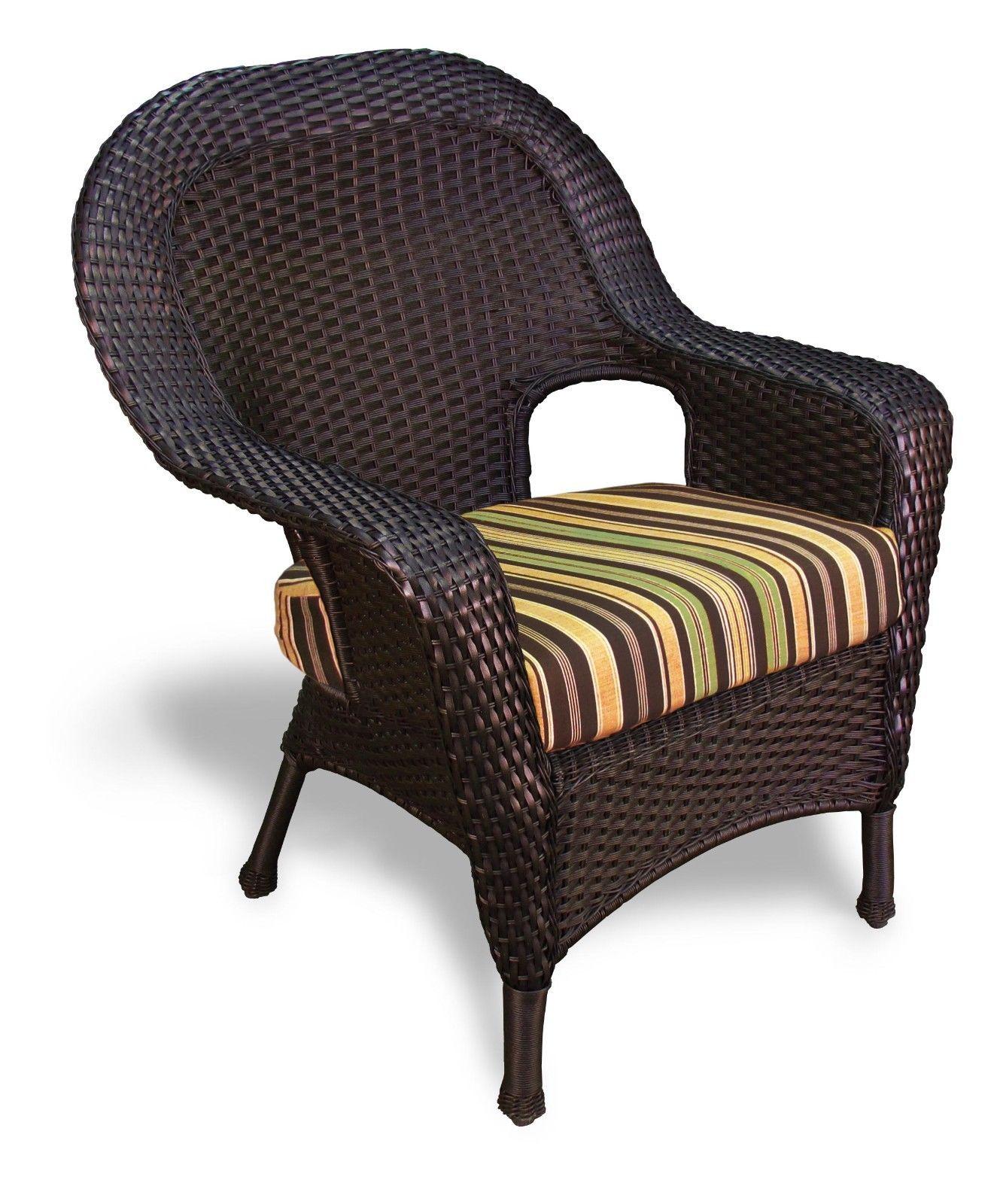 #145 - Outdoor Patio Garden Furniture Tortoise Resin Wicker Dining Chair in Vera Coal