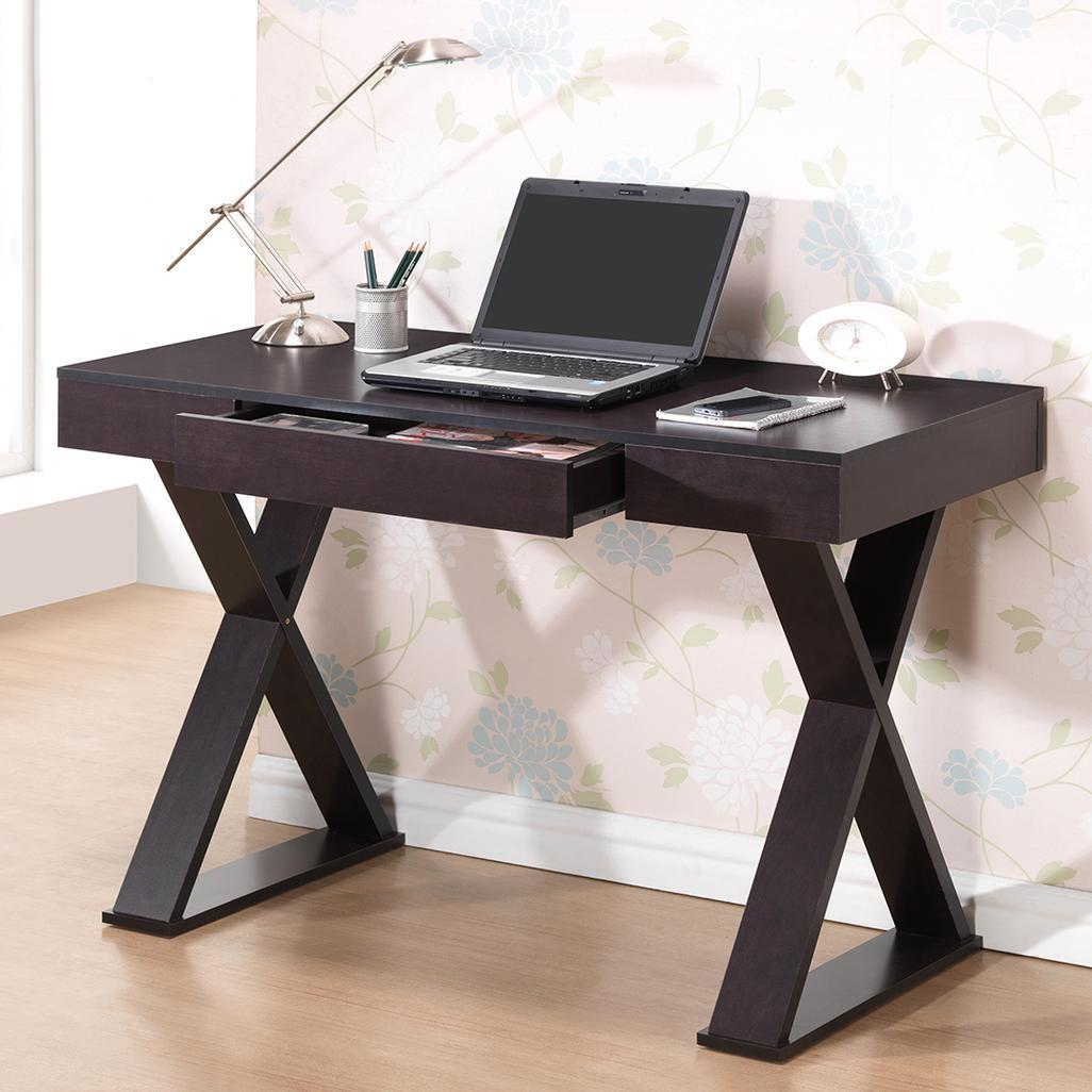 #101 - Modern Trendy Computer Desk With Pullout Center Drawer in Espresso Finish