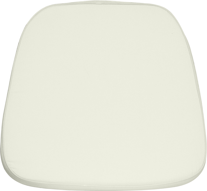 #1 - SOFT IVORY FABRIC CHIAVARI CHAIR CUSHION