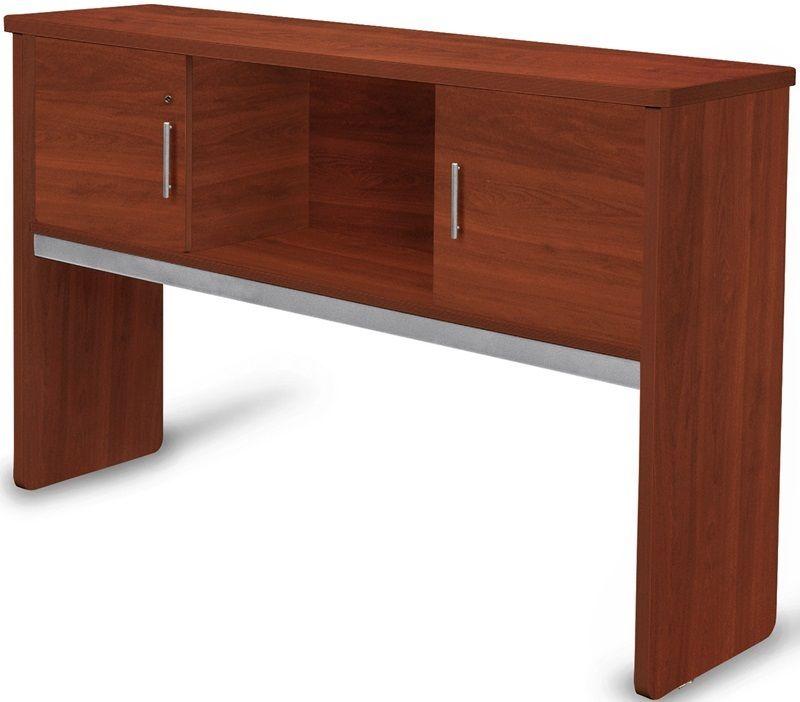#14 - 17.75'' D x 63.75'' W Contemporary Executive Hutch in Cherry Finish