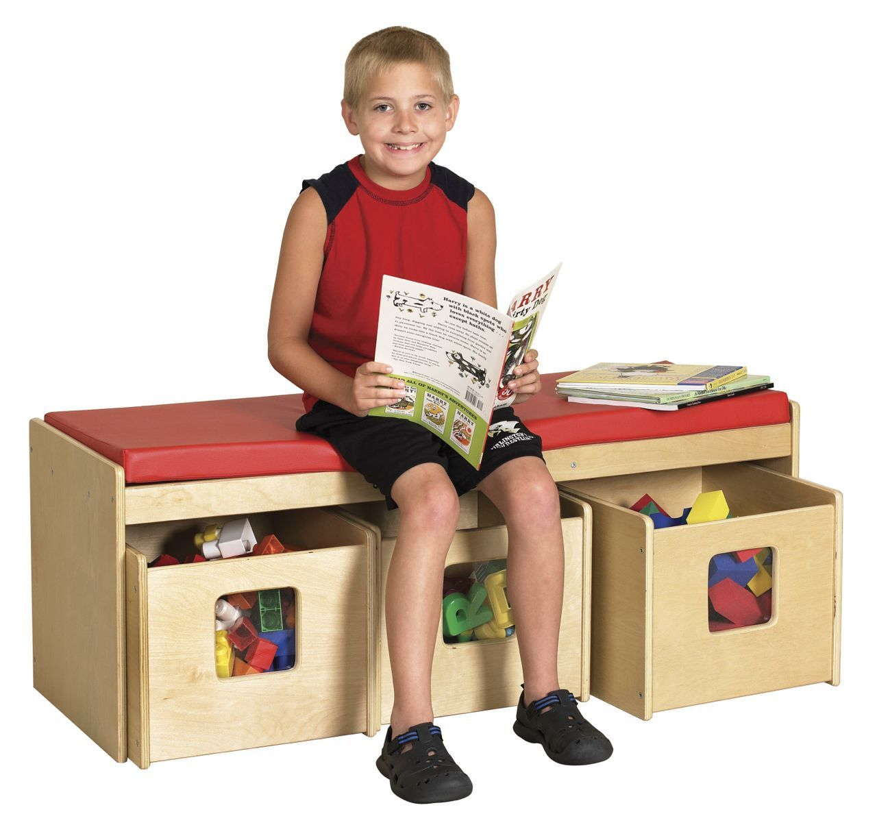 #35 - See & Store™ Bench With 3 Storage Bins
