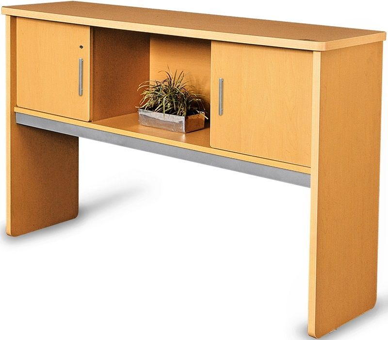 #15 - 17.75'' D x 63.75'' W Contemporary Executive Hutch in Maple Finish
