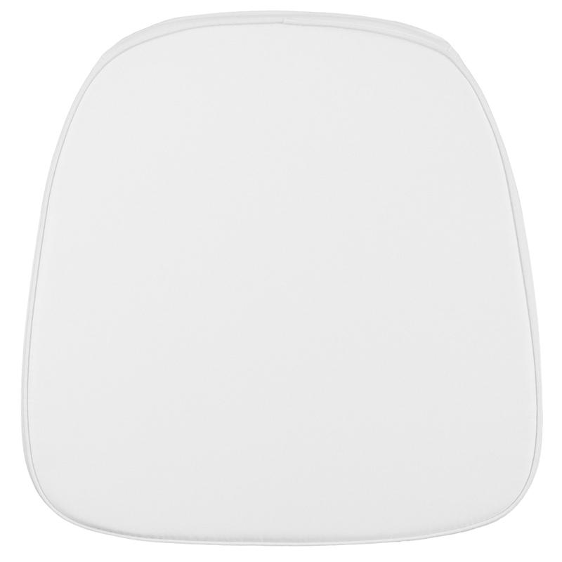 #2 - SOFT SNOW WHITE FABRIC CHIAVARI CHAIR CUSHION