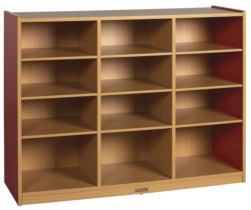 #41 - 12 Compartment Multi-Purpose Cabinet in Red