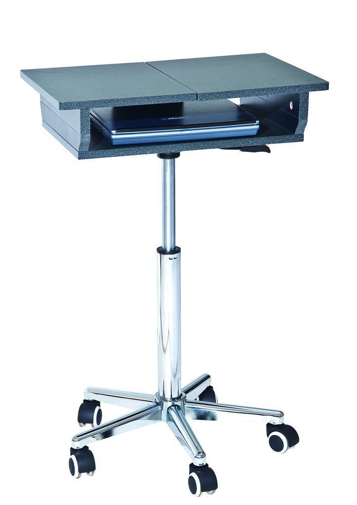 #115 - Mobile Adjustable Height Laptop Desk with Folding Panels and Wheel Casters