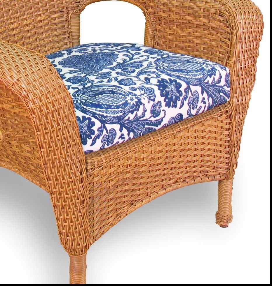 #146 - Outdoor Patio Garden Furniture Mojave Resin Wicker Dining Chair in Inoteka Indigo