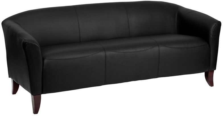 #3 - IMPERIAL SERIES BLACK LEATHER SOFA