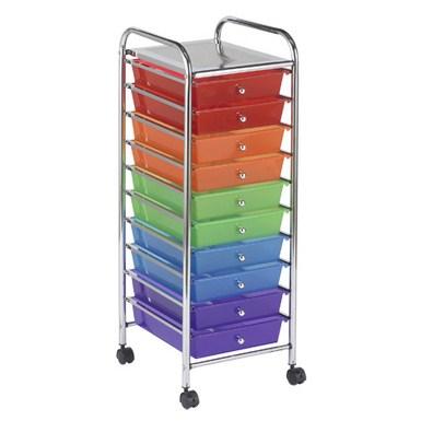 #1 - 10 Rainbow Drawer Mobile Organizer