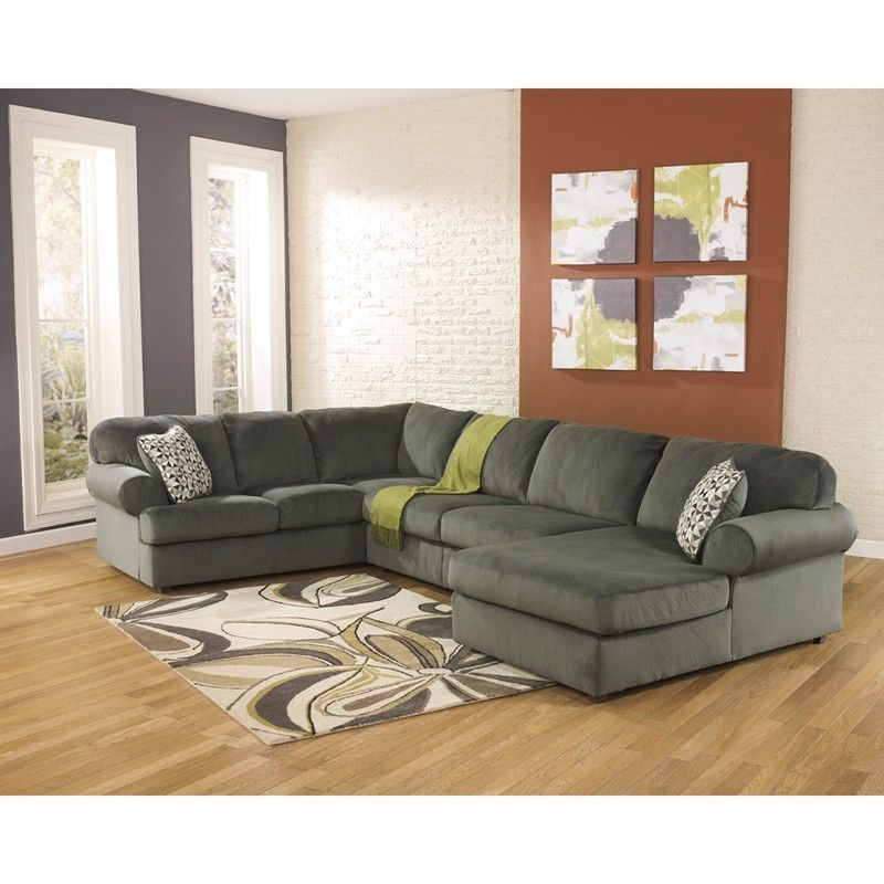#28 - Signature Design by Ashley Sectional in Pewter Fabric - Living Room Sectional