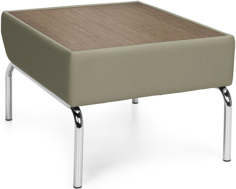 #26 - Coffee Table with Bronze Laminated Topa and Taupe Vinyl Border