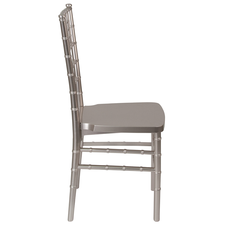 #7 - Pewter Resin Stacking Chiavari Chair - FREE SEAT CUSHION