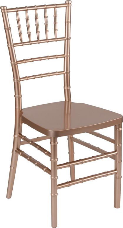 #8 - Rose Gold Resin Stacking Chiavari Chair - FREE SEAT CUSHION
