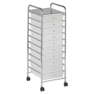 #3 - 10 White Drawer Mobile Organizer