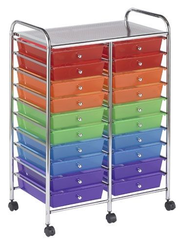 #4 - 20 Rainbow Drawer Mobile Organizer