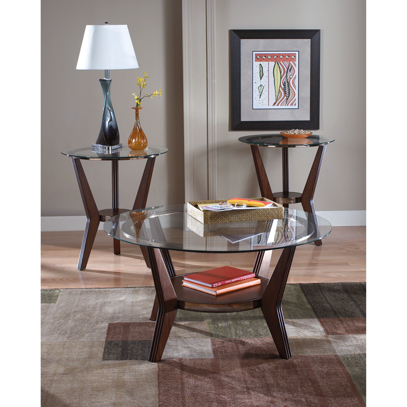 #19 - SIGNATURE DESIGN BY ASHLEY FERRETTI 3 PIECE OCCASIONAL TABLE SET