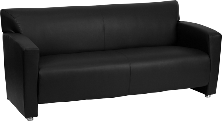 #6 - MAJESTY SERIES BLACK LEATHER SOFA