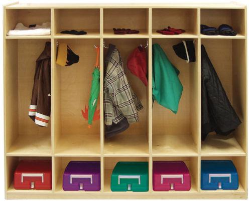 #12 - Birch 5-Section Straight Coat Locker