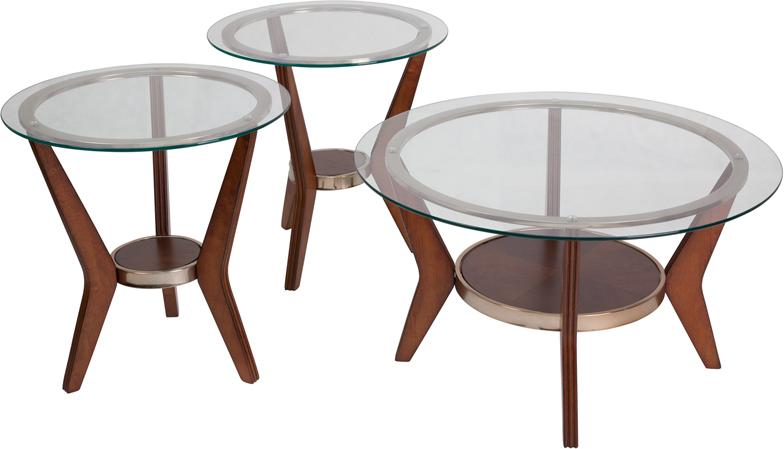 #19 - SIGNATURE DESIGN BY ASHLEY FERRETTI 3 PIECE OCCASIONAL TABLE SET