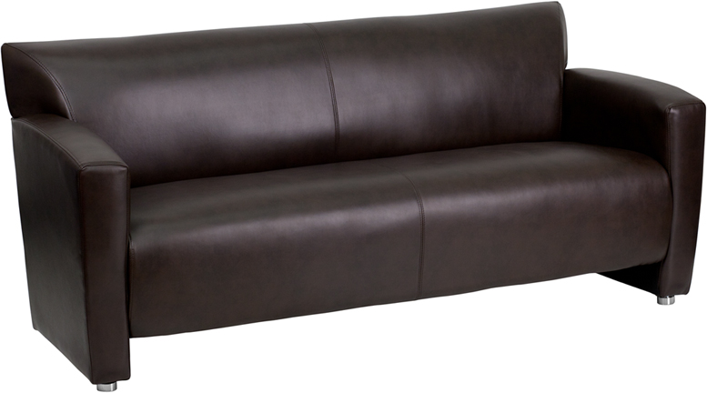 #7 - MAJESTY SERIES BROWN LEATHER SOFA