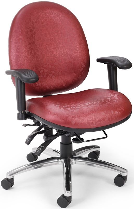 #49 - Adjustable Height Big & Tall Computer Task Chair with Arms with Color Choice