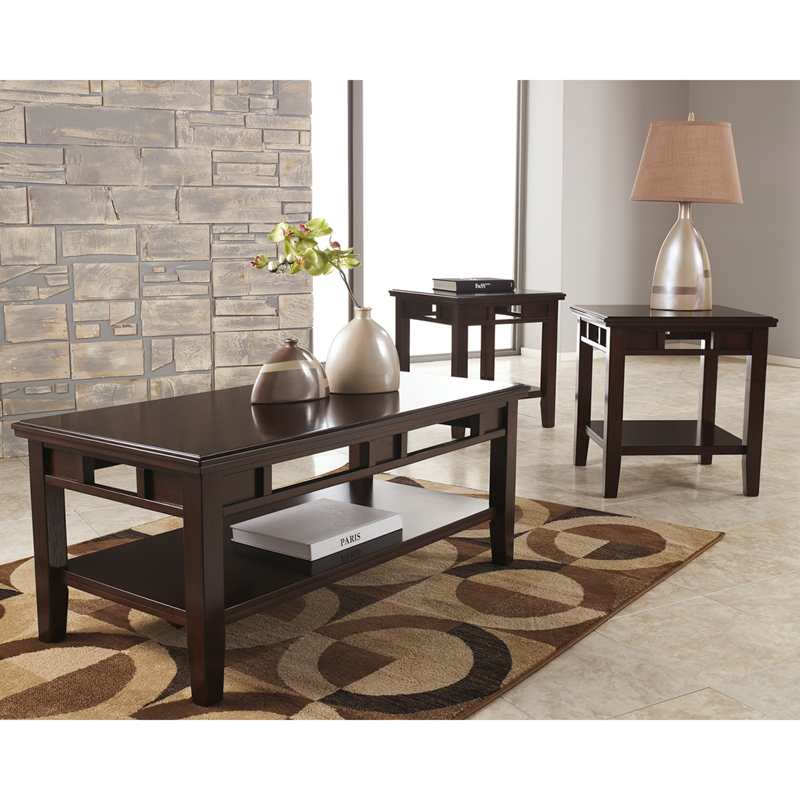 #20 - SIGNATURE DESIGN BY ASHLEY LOGAN 3 PIECE OCCASIONAL TABLE SET