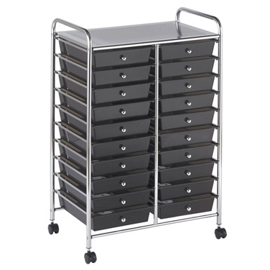 #5 - 20 Black Drawer Mobile Organizer