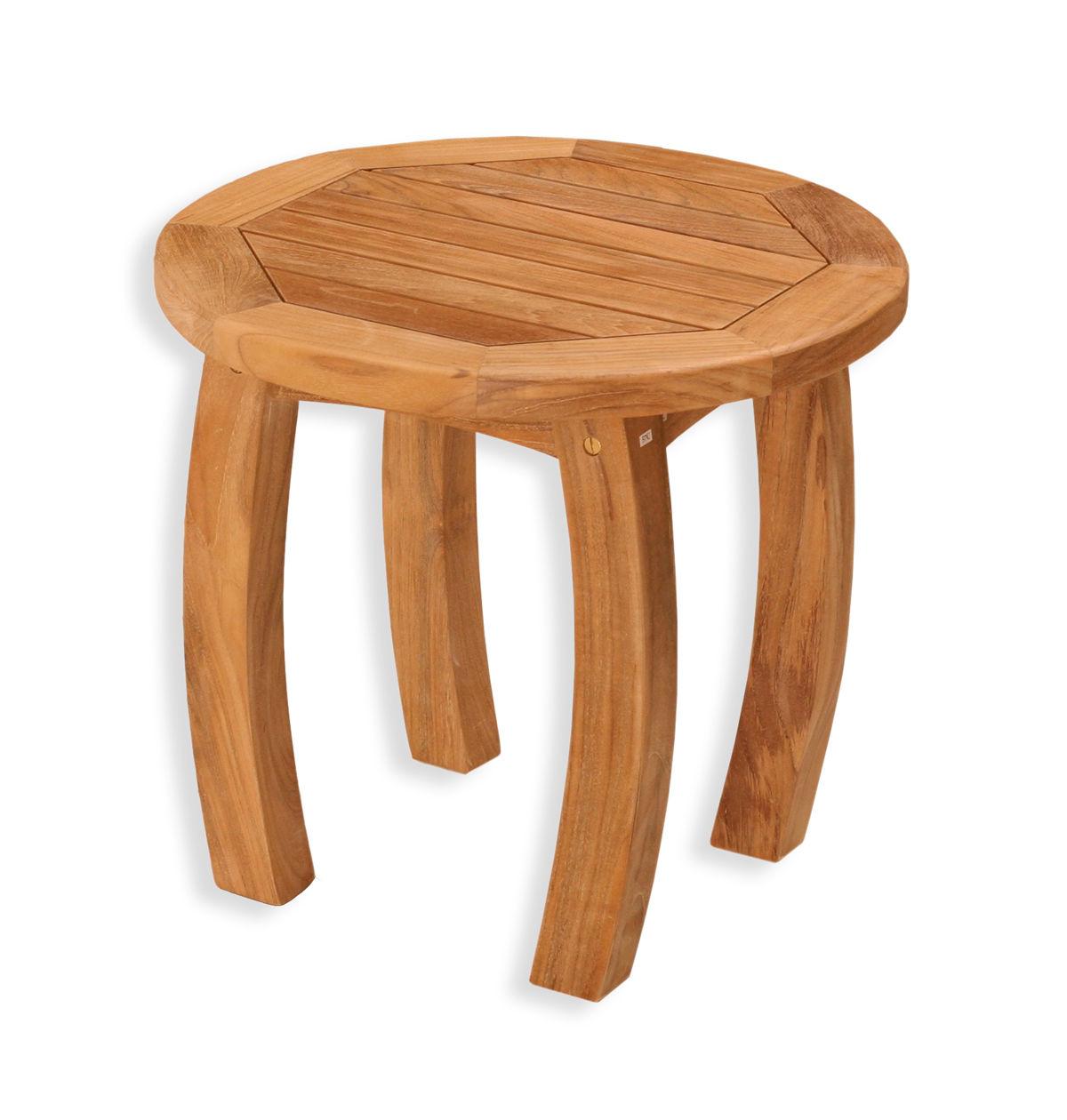 "#174 - 20"" Jakarta Teak Round Side Table in Teak Hardwood - Outdoor Furniture"