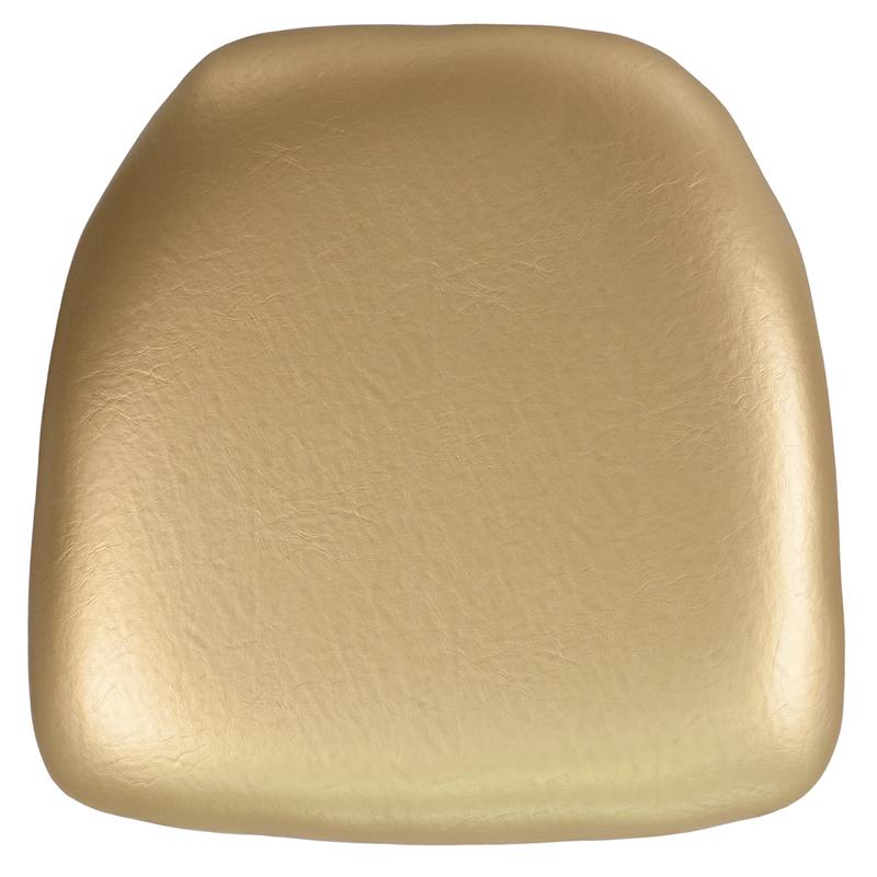 #12 - HARD GOLD VINYL CHIAVARI CHAIR CUSHION