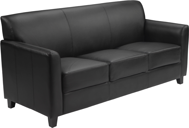 #9 - DIPLOMAT SERIES BLACK LEATHER SOFA