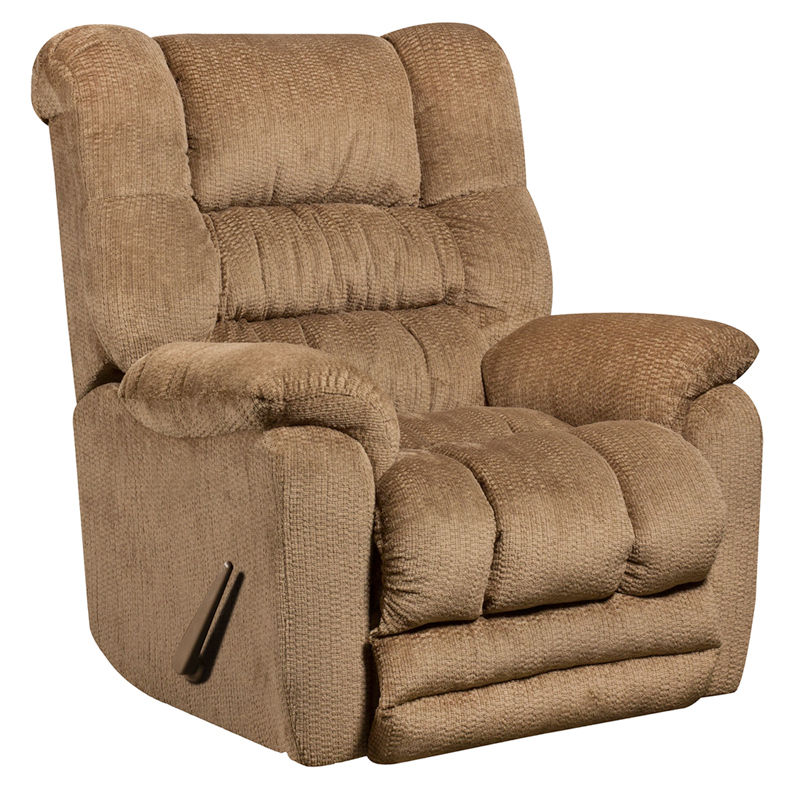 #48 - Contemporary Temptation Fawn Microfiber Rocker Recliner