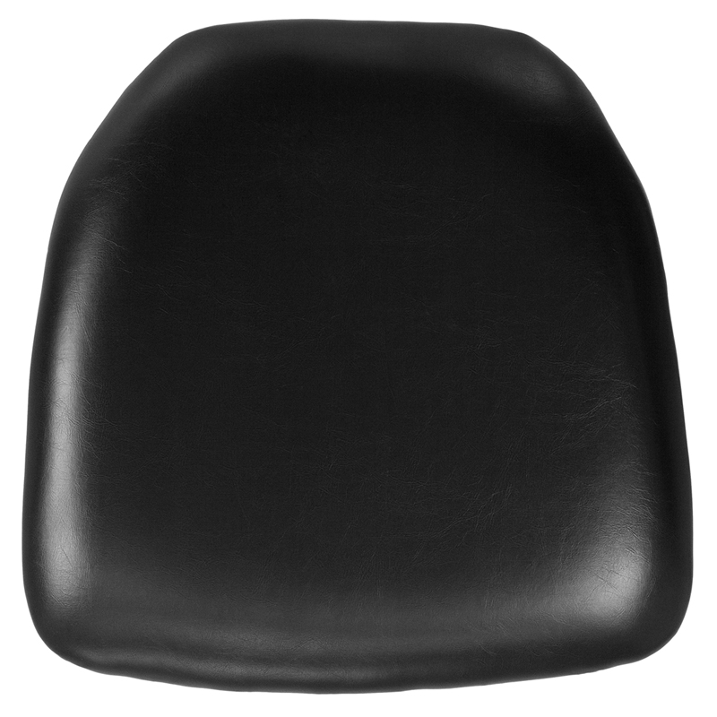 #7 - HARD BLACK VINYL CHIAVARI CHAIR CUSHION