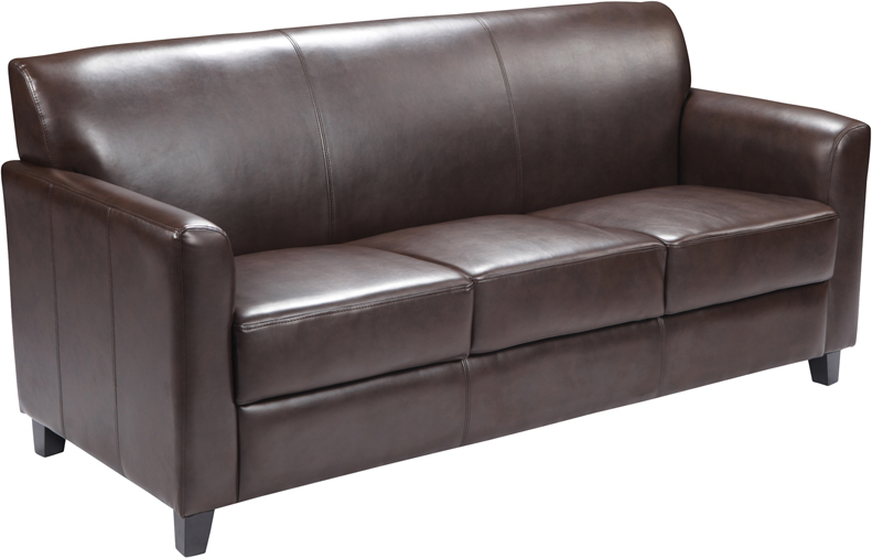 #10 - DIPLOMAT SERIES BROWN LEATHER SOFA
